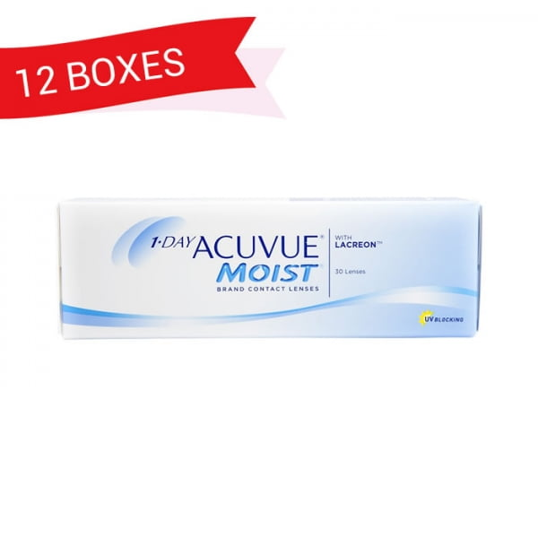 1-DAY ACUVUE MOIST (12 Boxes)