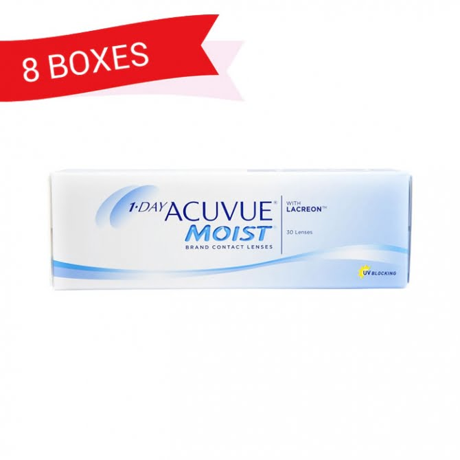 1-DAY ACUVUE MOIST (8 Boxes)