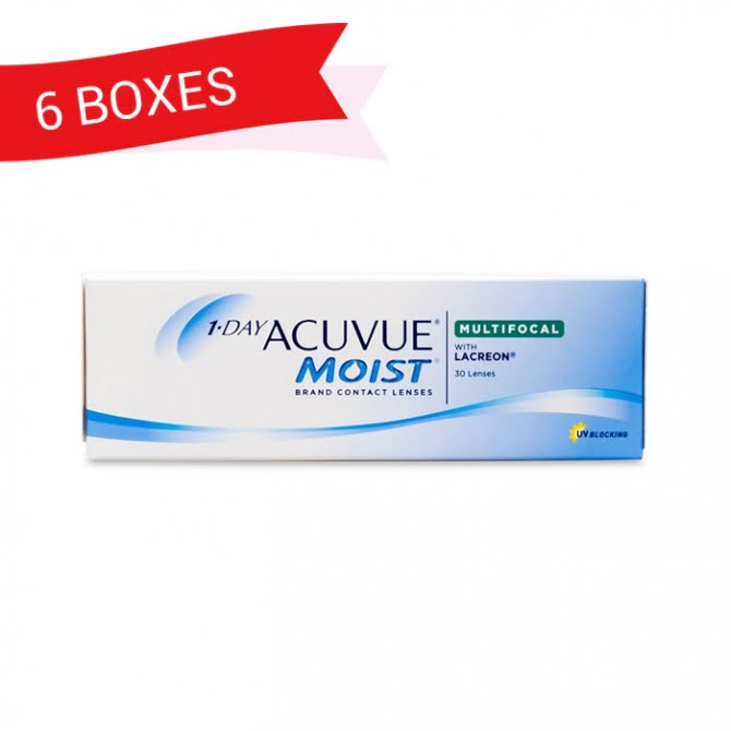 1-DAY ACUVUE MOIST MULTIFOCAL (6 Boxes)