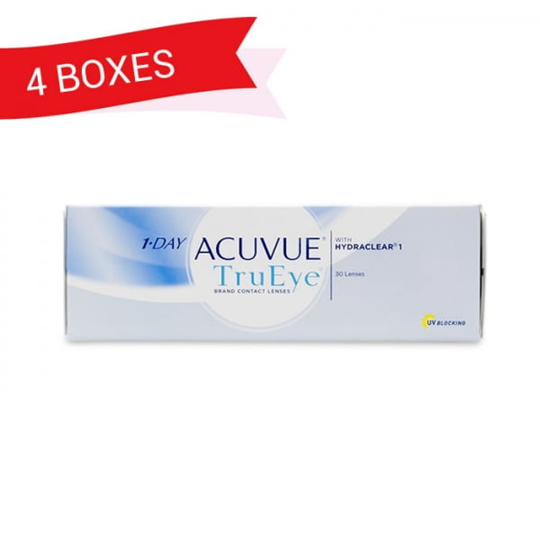 1-DAY ACUVUE TRUEYE (4 Boxes)