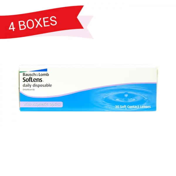 SOFLENS DAILY DISPOSABLE (4 Boxes)