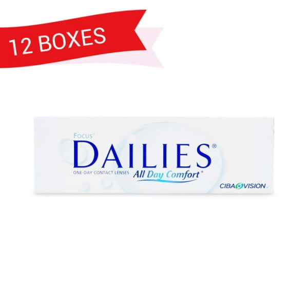 FOCUS DAILIES ALL DAY COMFORT (12 Boxes)