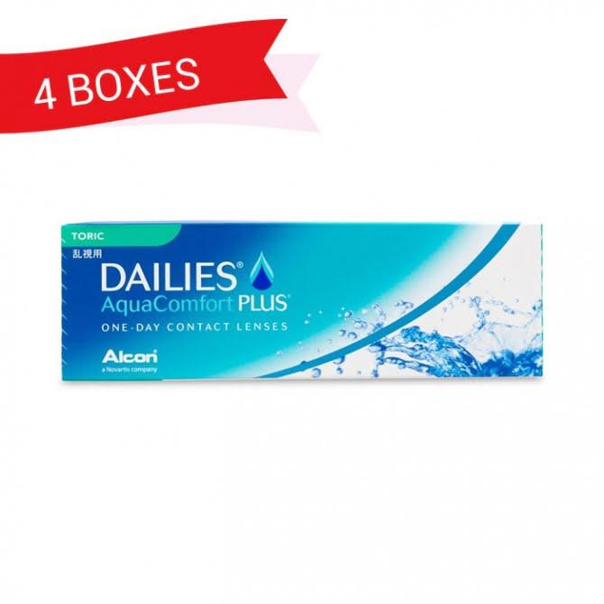 DAILIES AQUACOMFORT PLUS TORIC (4 Boxes)