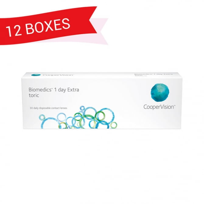 BIOMEDICS 1 DAY EXTRA TORIC (12 Boxes)