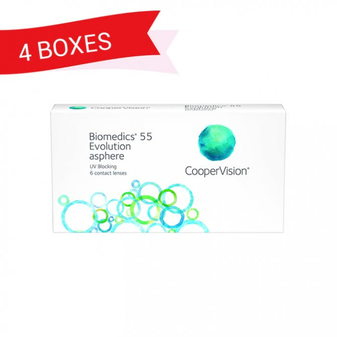 BIOMEDICS 55 EVOLUTION ASPHERE (4 Boxes)