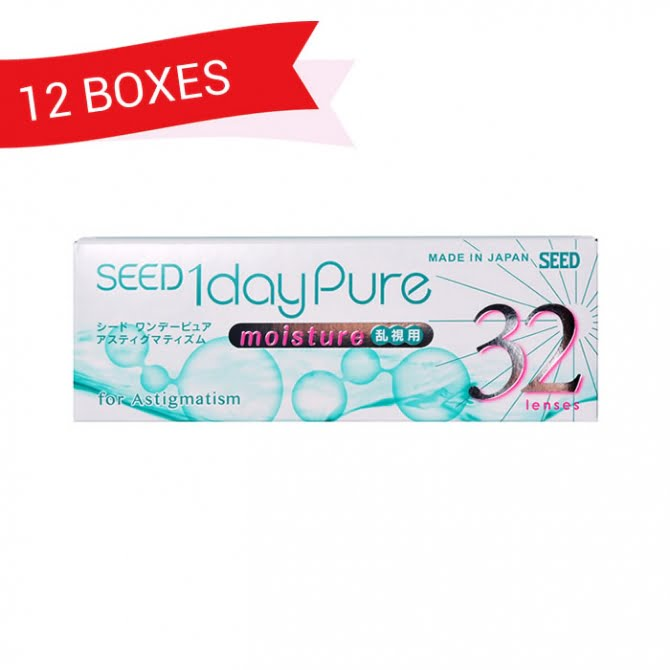 SEED 1DAY PURE MOISTURE ASTIGMATISM (12 Boxes)