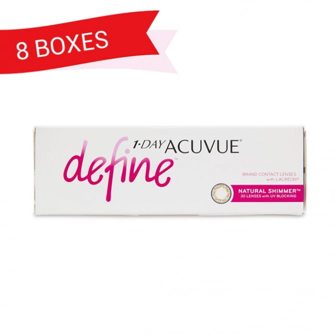1-DAY ACUVUE DEFINE NATURAL SHIMMER (8 Boxes)