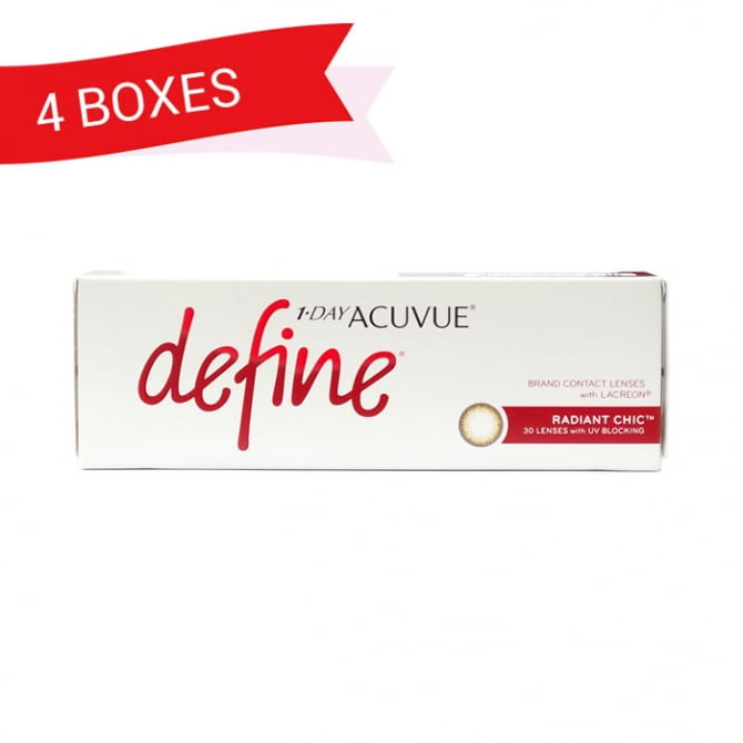 1-DAY ACUVUE DEFINE RADIANT CHIC (4 Boxes)