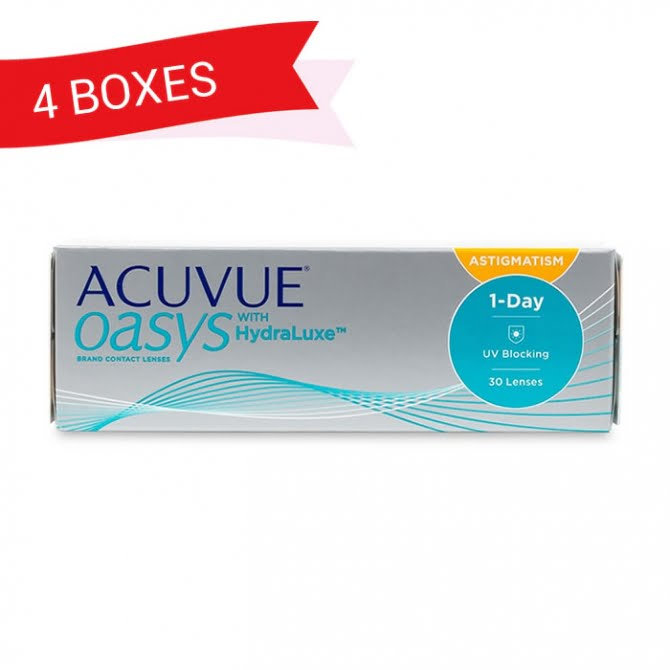 ACUVUE OASYS 1-DAY FOR ASTIGMATISM (4 Boxes)