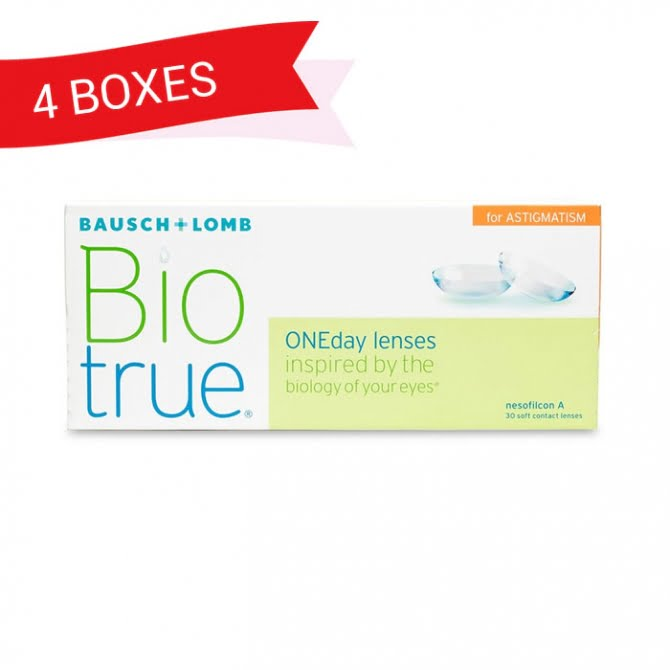 BIOTRUE ONEDAY FOR ASTIGMATISM 4 Boxes