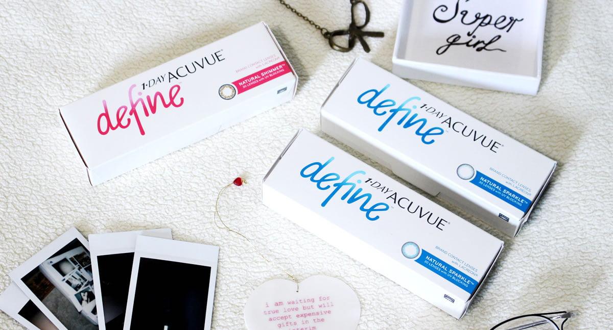 Acuvue Define Natural Shimmer & Natural Sparkle
