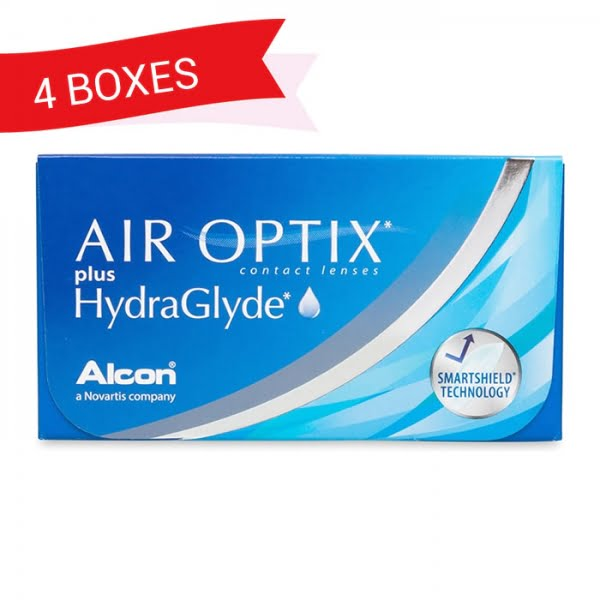 AIR OPTIX HYDRAGLYDE (4 Boxes)