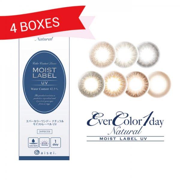 EverColor 1 Day Natural Moist Label UV (4 Boxes)