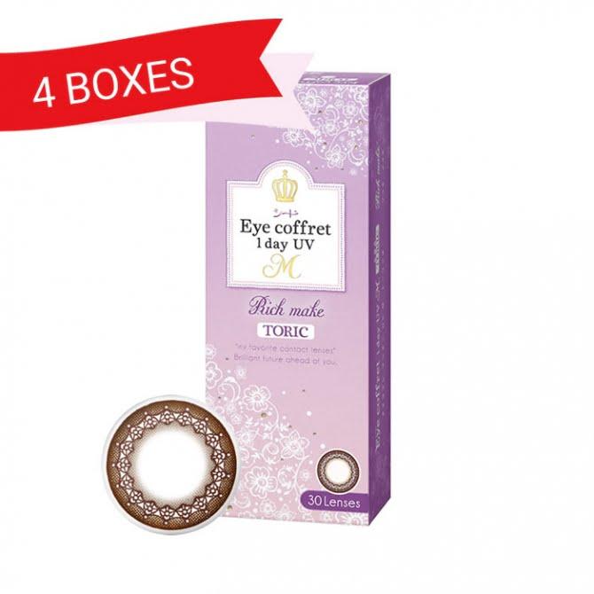 EYE COFFRET 1 DAY UV TORIC RICH MAKE (4 Boxes)